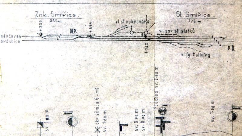 Nádraží Smiřice 1941
